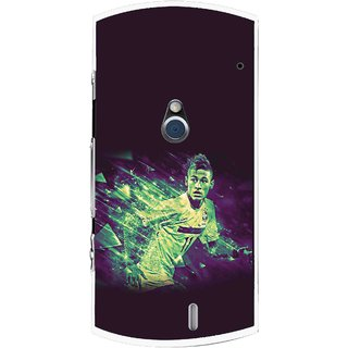 Snooky Printed Running Boy Mobile Back Cover For Sony Ericsson Xperia Neo V - Multi