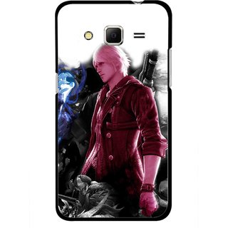 Snooky Printed Fighter Boy Mobile Back Cover For Samsung Galaxy Core Prime - Multicolour