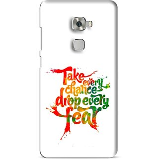 Snooky Printed Drop Fear Mobile Back Cover For Huawei Mate S - Multi