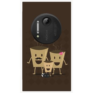 Snooky Printed Wake Up Coffee Mobile Back Cover For Nokia Lumia 1020 - Multi