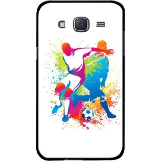 Snooky Printed Footbal Mania Mobile Back Cover For Samsung Galaxy J7 - Multicolour