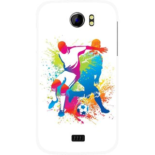 Snooky Printed Footbal Mania Mobile Back Cover For Micromax Canvas 2 A110 - Multicolour