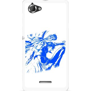 Snooky Printed Horse Boy Mobile Back Cover For Sony Xperia L - Multicolour