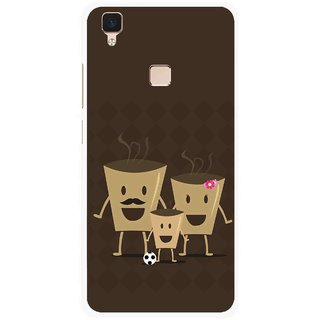 Snooky Printed Wake Up Coffee Mobile Back Cover For Vivo V3 - Multi
