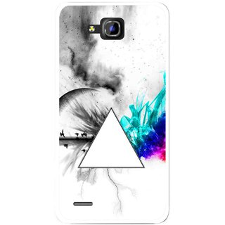 Snooky Printed Math Art Mobile Back Cover For Huawei Honor 3C - Multicolour