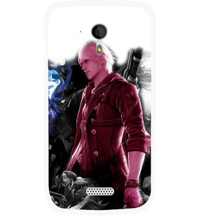 Snooky Printed Fighter Boy Mobile Back Cover For Micromax A116 - Multicolour