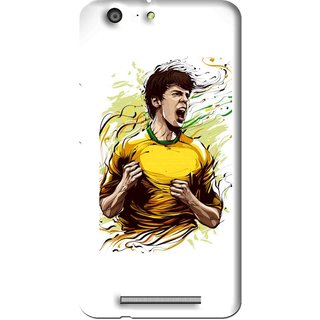 Snooky Printed I Win Mobile Back Cover For Gionee Marathon M5 - Multi