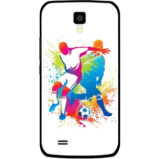 Snooky Printed Footbal Mania Mobile Back Cover For Gionee Pioneer P2S - Multicolour