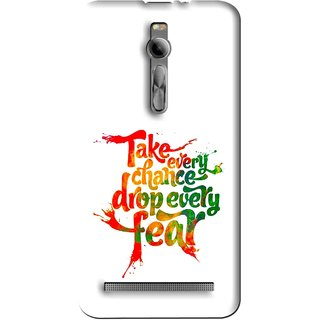 Snooky Printed Drop Fear Mobile Back Cover For Asus Zenfone 2 - Multi