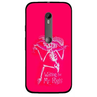 Snooky Printed Mr.Right Mobile Back Cover For Moto G3 - Multi