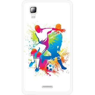 Snooky Printed Footbal Mania Mobile Back Cover For Micromax Canvas Doodle 3 A102 - Multicolour