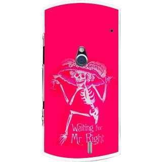 Snooky Printed Mr.Right Mobile Back Cover For Sony Ericsson Xperia Neo V - Multi