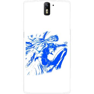 Snooky Printed Horse Boy Mobile Back Cover For OnePlus One - Multicolour