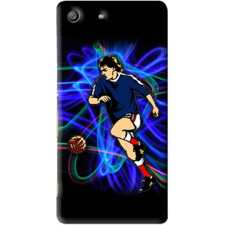 Snooky Printed Football Passion Mobile Back Cover For Sony Xperia M5 - Multi
