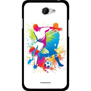 Snooky Printed Footbal Mania Mobile Back Cover For HTC Desire 516 - Multicolour