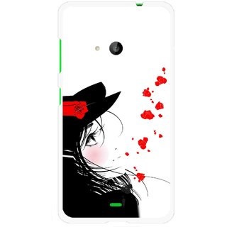 Snooky Printed Mistery Girl Mobile Back Cover For Microsoft Lumia 535 - Multi
