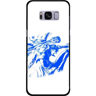 Snooky Printed Horse Boy Mobile Back Cover For Samsung Galaxy S8 Plus - Multicolour
