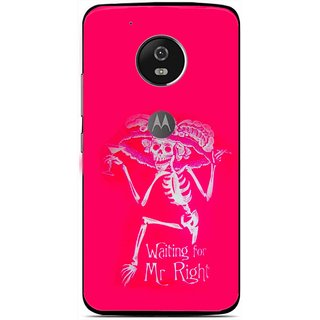 Snooky Printed Mr.Right Mobile Back Cover For Moto G5 Plus - Multi