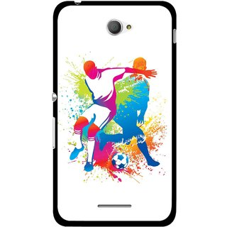 Snooky Printed Footbal Mania Mobile Back Cover For Sony Xperia E4 - Multicolour