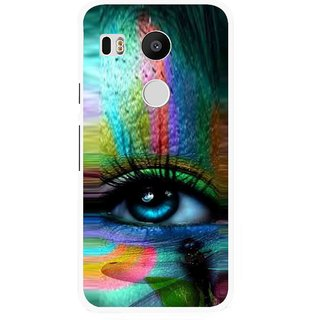 Snooky Printed Designer Eye Mobile Back Cover For Lg Google Nexus 5X - Multi