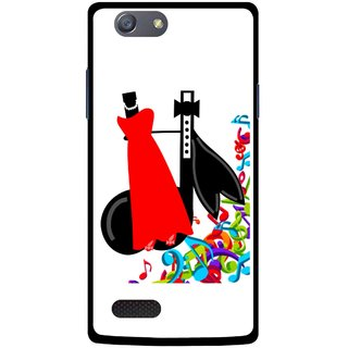 Snooky Printed Fashion Mobile Back Cover For Oppo Neo 7 - Multicolour
