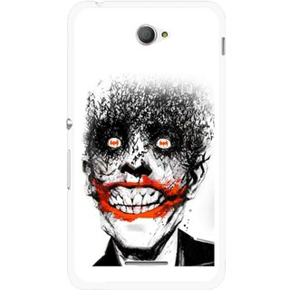 Snooky Printed Joker Mobile Back Cover For Sony Xperia E4 - Multicolour