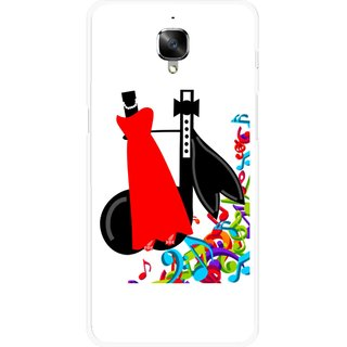 Snooky Printed Fashion Mobile Back Cover For OnePlus 3 - Multicolour