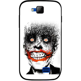 Snooky Printed Joker Mobile Back Cover For Micromax Canvas Fun A63 - Multicolour