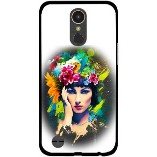 Snooky Printed Classy Girl Mobile Back Cover For LG K10 2017 - Multi