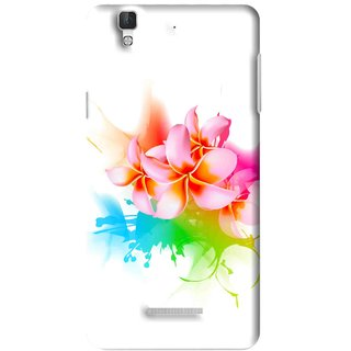Snooky Printed Colorfull Flowers Mobile Back Cover For Micromax YU YUREKA - Multi