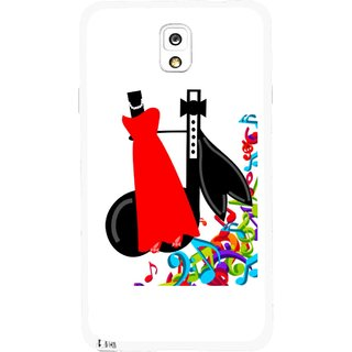 Snooky Printed Fashion Mobile Back Cover For Samsung Galaxy Note 3 - Multicolour