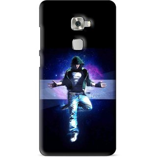 Snooky Printed Hug Me Mobile Back Cover For Huawei Mate S - Multi