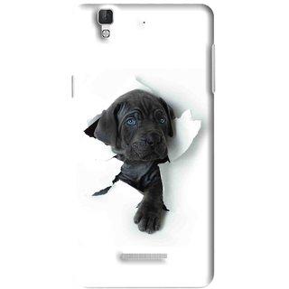 Snooky Printed Cute Dog Mobile Back Cover For Micromax YU YUREKA - Multi