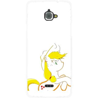 Snooky Printed Horse Cartoon Mobile Back Cover For Infocus M350 - Multi