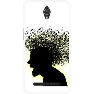 Snooky Printed Music Fond Mobile Back Cover For Asus Zenfone C - Multicolour