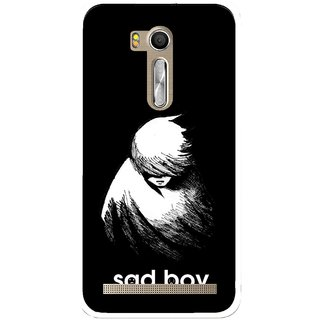 Snooky Printed Sad Boy Mobile Back Cover For Asus Zenfone Go ZB551KL - Multi