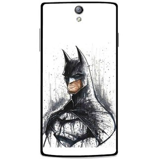 Snooky Printed Angry Batman Mobile Back Cover For Oppo Find 5 Mini - Multicolour