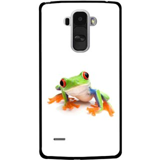 Snooky Printed Frog Mobile Back Cover For Lg G4 Stylus - Multi