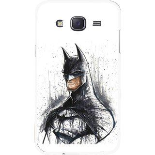 Snooky Printed Angry Batman Mobile Back Cover For Samsung Galaxy J7 - Multicolour
