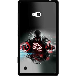 Snooky Printed Mr.Right Mobile Back Cover For Nokia Lumia 720 - Multicolour