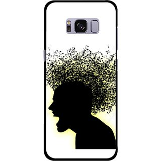 Snooky Printed Music Fond Mobile Back Cover For Samsung Galaxy S8 - Multicolour