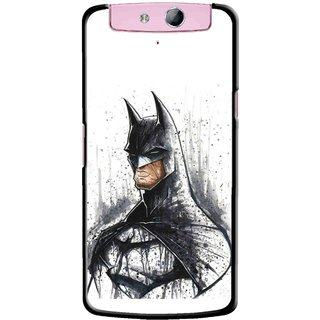 Snooky Printed Angry Batman Mobile Back Cover For Oppo N1 Mini - Multicolour