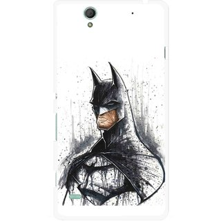 Snooky Printed Angry Batman Mobile Back Cover For Sony Xperia C4 - Multicolour