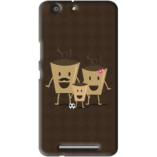 Snooky Printed Wake Up Coffee Mobile Back Cover For Gionee Marathon M5 - Multi