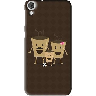 Snooky Printed Wake Up Coffee Mobile Back Cover For HTC Desire 820 - Multi