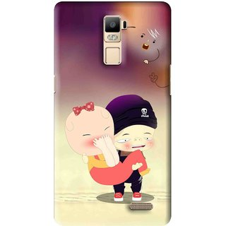 Snooky Printed Friendship Mobile Back Cover For Oppo R7 Plus - Multi