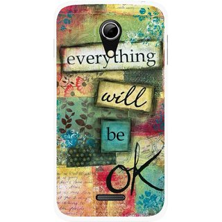 Snooky Printed Will Ok Mobile Back Cover For Micromax A114 - Multicolour