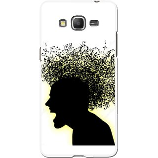Snooky Printed Music Fond Mobile Back Cover For Samsung Galaxy Grand Max - Multicolour