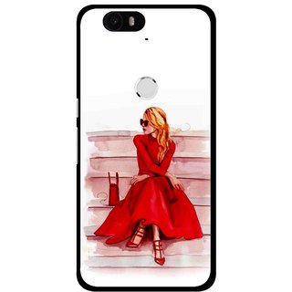 Snooky Printed Attitude Girl Mobile Back Cover For Huawei Nexus 6P - Multi