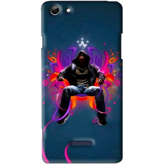 Snooky Printed Live In Attitude Mobile Back Cover For Micromax Canvas Selfie 3 Q348 - Multi